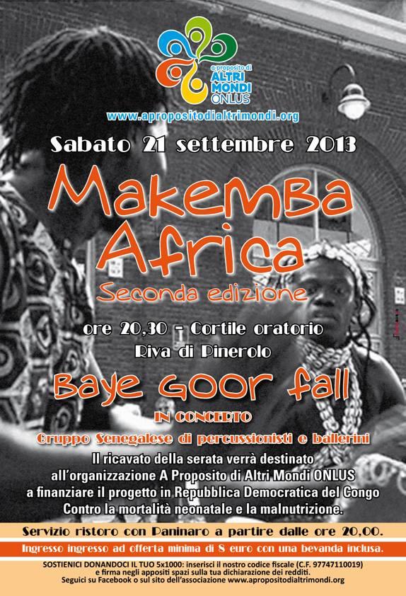 locandina evento Makemba Africa Riva di Pinerolo 2013