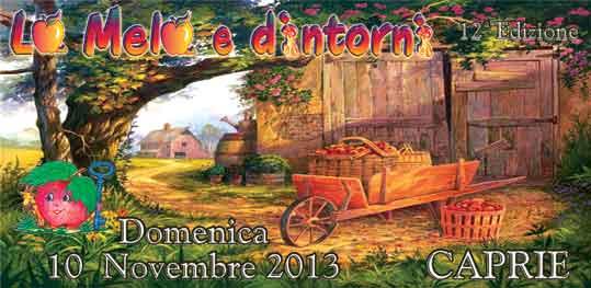 Locandina Sagra delle mele Caprie - 2013
