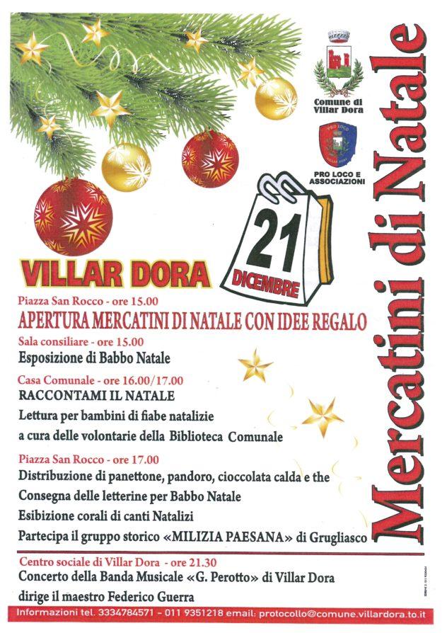 Locandina Mercatino di Natale Villardora 2013