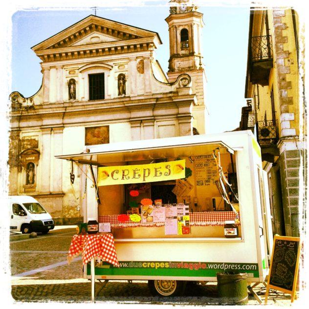 Chiosco ristoro crepes a Carignano, Carnevale
