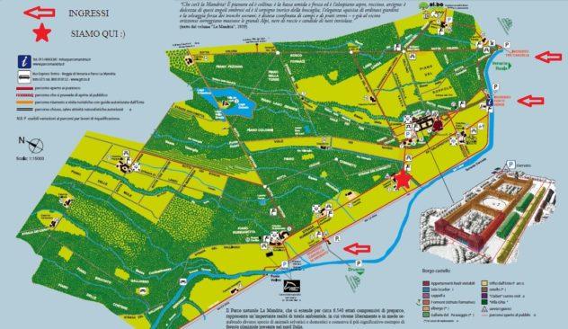 Mappa del parco La Mandria - Venaria TO
