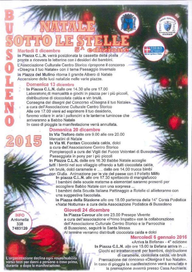 Locandina del mercatino di Natale - Bussoleno 2015