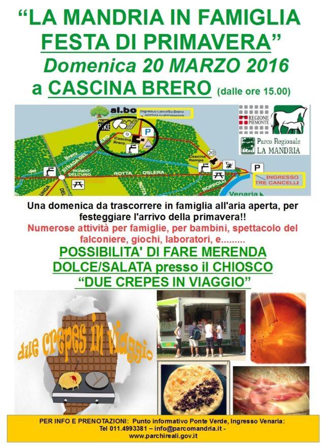 Locandina della festa di Primavera- Cascina Brero